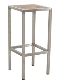 Stainless Steel Frame Fixed Outdoor Bar Stool pictures & photos