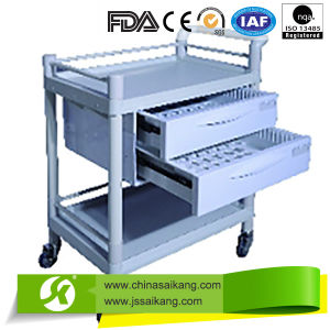 High Quality ABS Hospital Nursing Cart Trolley pictures & photos