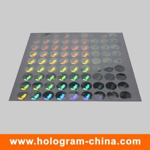 Silver 3D Laser Security Hologram Label pictures & photos