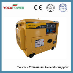 3kVA Small Diesel Engine Electric Soundproof Generator Set pictures & photos