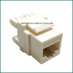 10g CAT6A UTP Keystone Jack 180 Degree for Information Outlet pictures & photos