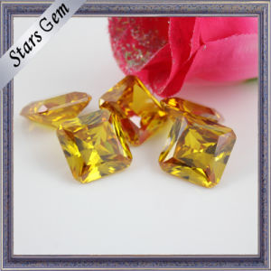 Octagon Square Bright Yellow Princess Cut CZ Gemstone pictures & photos