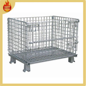 Folding Metal Storage Cage Pallet Wire Mesh Container pictures & photos