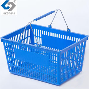 29L Best-Selling Plastic Baskets with Two Metal Handles pictures & photos