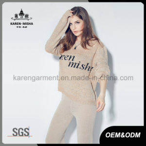 Karen Letters Patterned Fashion Oversized Sweater with Broken Holes pictures & photos