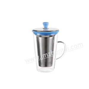 Easy to Carry Drinking Cap Glass Cup with Silicone Sleeve pictures & photos
