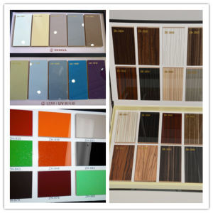 2016 Zh Brand UV Glossy Paint MDF Board for Kitchen Doors Wall Panel Price (new color) pictures & photos