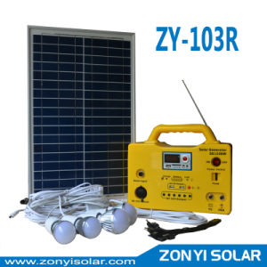 Solar DC Light System for Home Use Zy-103r Light+MP3+Radio pictures & photos