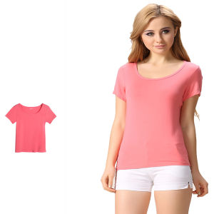 Great Workmanship Soft Comfortable Cotton Homewear Women Tee Shirt pictures & photos