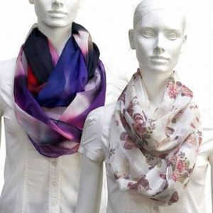 Large Infinity Chiffon Scarf, Customized Designs by Sublimation