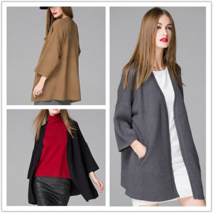 2017 High-End Simple Style Oversize Loose Knitting Cardigan Coat in Women Clothes for Wholesale pictures & photos