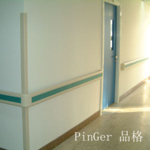 Hospital Anti-Bactoria Anti-Collision PVC Wall Handrail pictures & photos