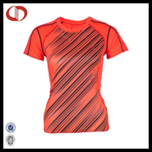 Custom Sublimated Orange Sport T Shirt for Women pictures & photos