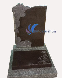Black Natural Carving Granite Tombstone pictures & photos