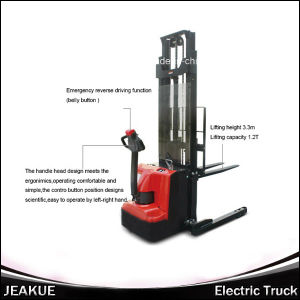 Jeakue 1.4-1.6 Ton Wider Range Leg Battery Full Electric Stacker pictures & photos