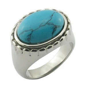 Steel Skull Rings with Turquoise Jewelry (R30060G) pictures & photos