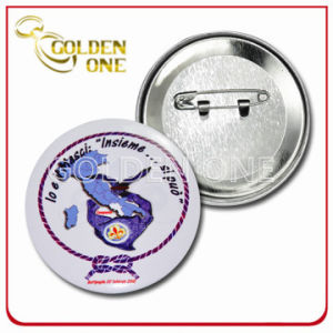 Custom High Quality Screen Printed Plated Button Badge pictures & photos