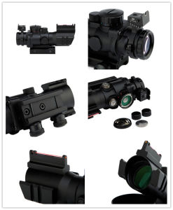 4x32mm Tactical 20mm Rails Optical Fiber Red/Green/Blue DOT Sight Scope pictures & photos