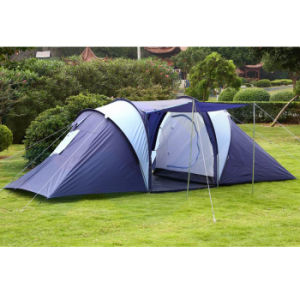 High-Quality Foldable Double Layers PE Camping Tent 6 Person, Outdoor Family Camping Tent