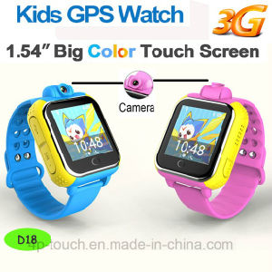 3G Smart Kids GPS Tracker Watch with 3.0m Camera (D18) pictures & photos