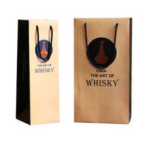 Paper Wine Handle Bag pictures & photos