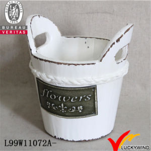Flower Pot in Barrel Shape with Handle for Planting pictures & photos