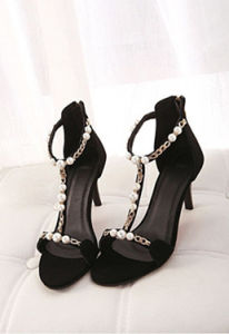 New Style Black High Heel Women Sandal pictures & photos