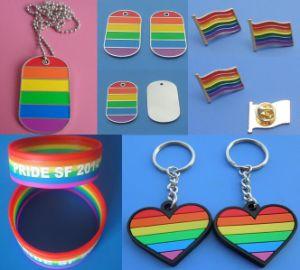 Gay Lesbian Lgbt Pride Enamel Rainbow Metal Lapel Pin Badge pictures & photos