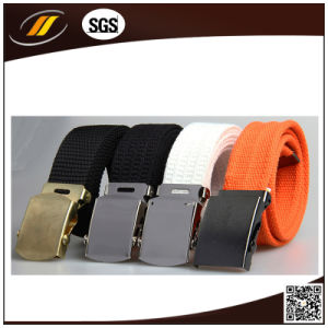 High Quality Durable Army Training Outdoor Belt Military Canvas Belt (HJ15004)