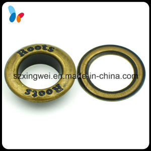 Custom Debossed Logo Anti-Brass Metal Round Eyelet pictures & photos