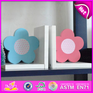 2015 Brand New Wooden Flower Bookend, Hot Sale Wood Flower Bookend, Lovely Bookend Flower Wooden W08d052b pictures & photos