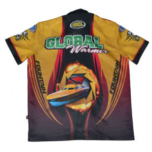 Sublimation Crew Shirt Sublimated Pit Crew Shirt pictures & photos