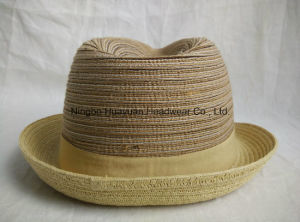 Sewn Braid Fefora Straw Hat pictures & photos