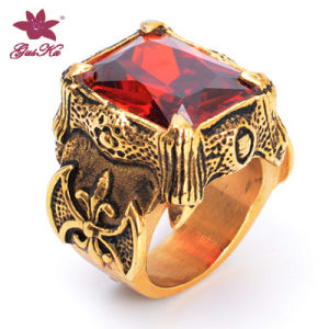 Hot Selling Red Stone Inlay Jewelry Ring Gus-Stfr-029 pictures & photos