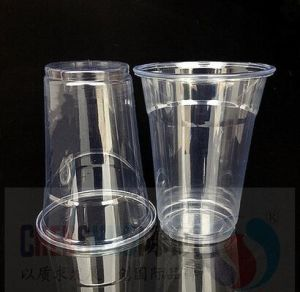 Pet Crystal Clear Plastic Cup for Juice (Custom Logo Print) with Dome Lid pictures & photos