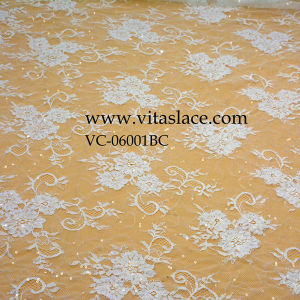 3m*1.5m Polyester French Lace for Wedding Dress Vc-06001 pictures & photos