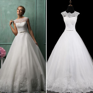 Romantic Lace Tulle Ball Gown Wedding Dresses (TM-BG019)