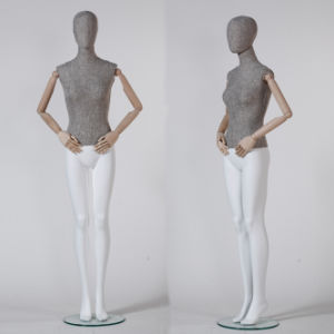 Fabric Wrapped Mannequin, Female Mannequin with Wooden Arm pictures & photos