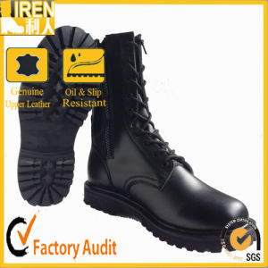 New Design Black Side Zippr Combat Boots pictures & photos