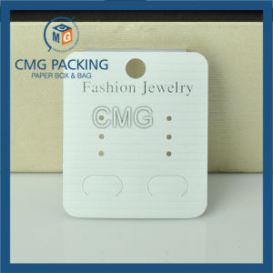No Logo Black Plastic Earring Card with Velvet (CMG-073) pictures & photos