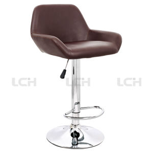 PU Leather Aluminium Alloy Adjustable Counter Stool Bar Stool