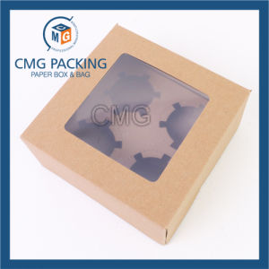 Brown Kraft Paper Cupcake Box with PVC Window (CMG-cake box-023) pictures & photos