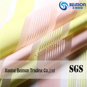 Wholesale Good Quality 100%Polyester Yarn Dyed Irregular Striped Organza Fabric pictures & photos