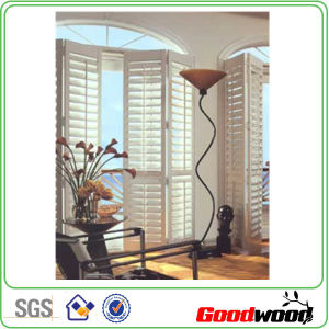 White Painted Vinyl Poly PVC Bi-Fold Plantation Shutter
