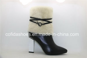 Latest Design and Stylish Lady Leather Boots (Women Shoes) pictures & photos