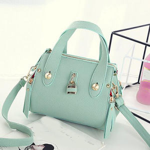 Ladies Bags Good Quality PU Handbag for Leisure with Lock Sy7620 pictures & photos