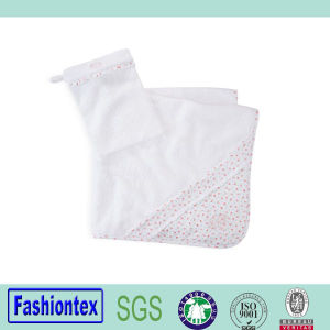 High Quality Cotton Printed Hooded Towel Toddler White Beach Towel pictures & photos