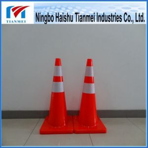PVC Traffic Cone with Two Reflective Stripe, Safety Cone pictures & photos