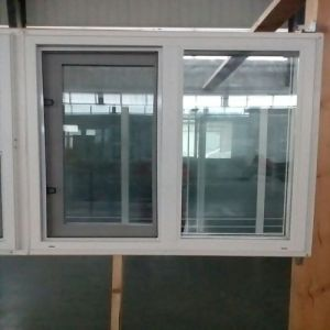 American Style Plastic Window with Double Glaze pictures & photos