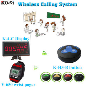 Restaurant Wireless Service Call System Wireless Electronic Pager K-4-C+Y-650+H3-B pictures & photos